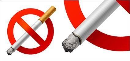 free vector No Smoking vector material