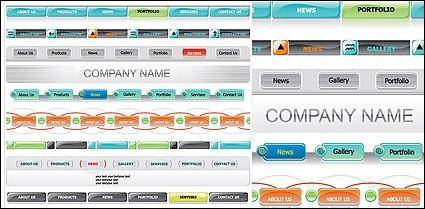 free vector Web menu