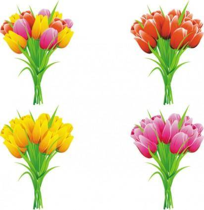 free vector Exquisite flowers 01 vector