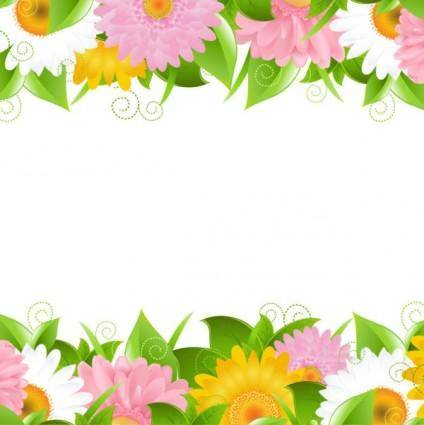 Flowers petals lace background 02 vector