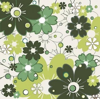 free vector Flower patterns 01 vector