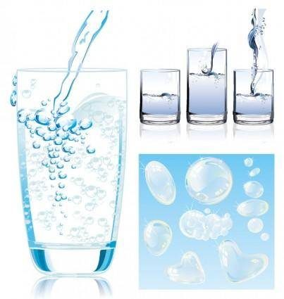 free vector Dynamic vector water