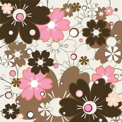 free vector Flower patterns 02 vector