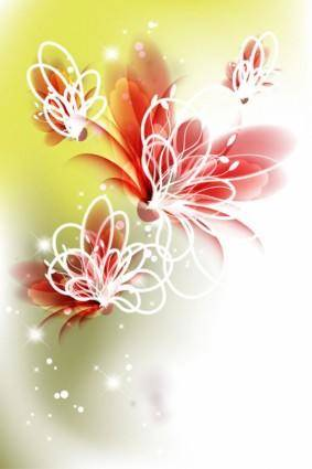 free vector Colorful flowers 01 vector