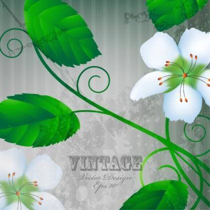 free vector Warm flowers background 05 vector