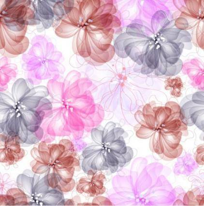 free vector Colorful flowers background 04 vector
