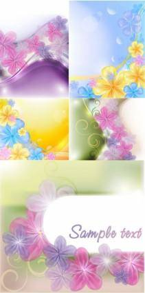 free vector Beautiful flowers background vector