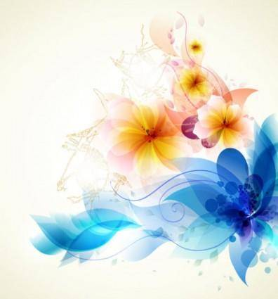 free vector Romantic flower background 01 vector