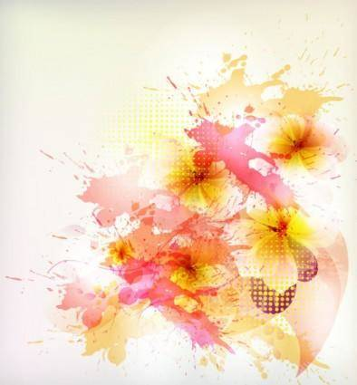 free vector Beautiful flowers background 01 vector