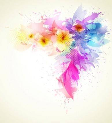 Beautiful flowers background 02 vector