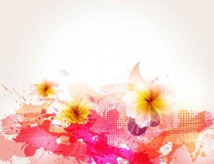 free vector Beautiful flowers background 05 vector