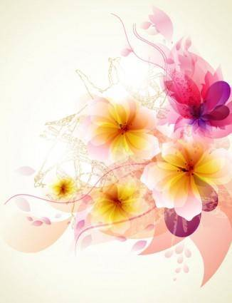 free vector Romantic flower background 02 vector