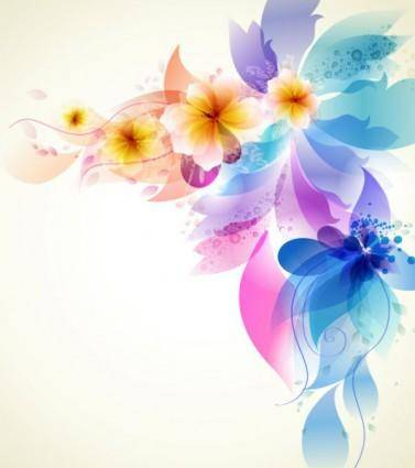 Romantic flower background 03 vector