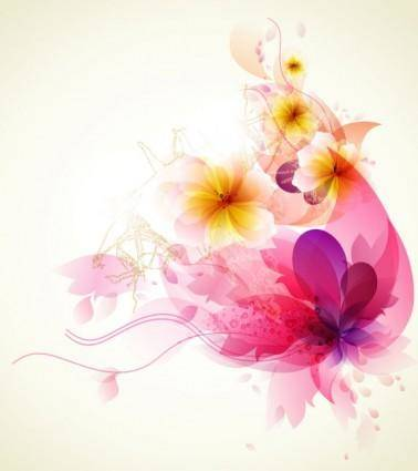 Romantic flower background 04 vector
