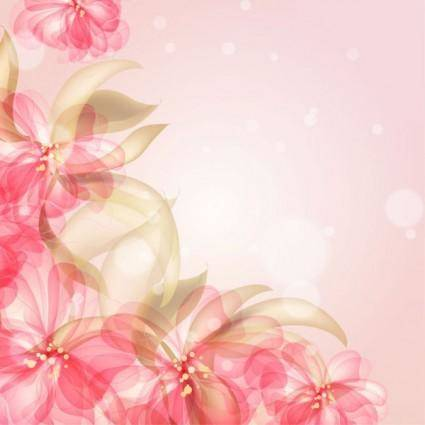 free vector Colorful flowers background 03 vector