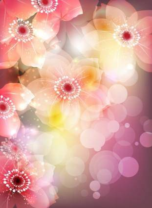 Gorgeous flowers illustrator 02 vector