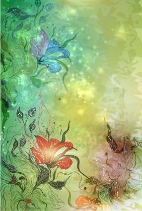 Gorgeous flowers illustrator 03 vector