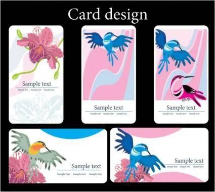 free vector Bird flower theme vector