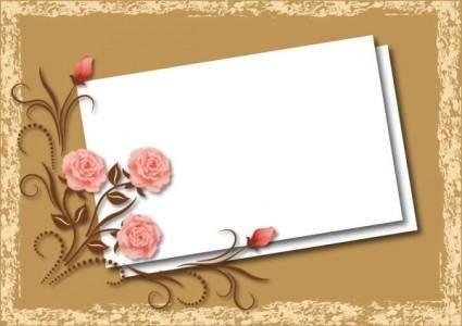Beautiful flower box blank cardboard 02 vector