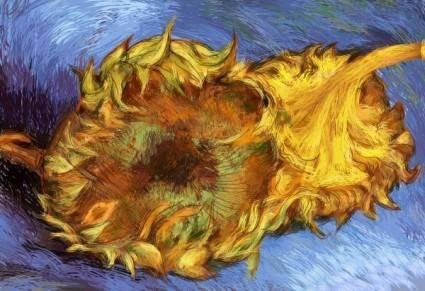 free vector Van gogh sunflowers vector