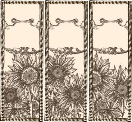 free vector Handpainted sunflowers vector