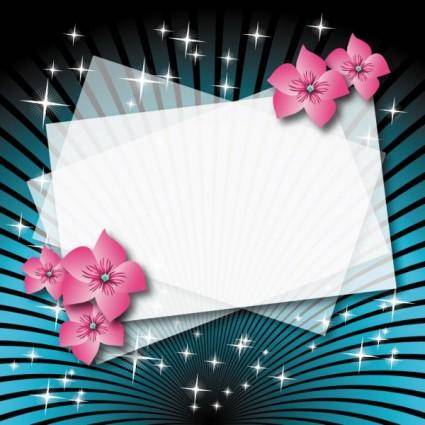 Beautiful flower box empty cardboard 01 vector