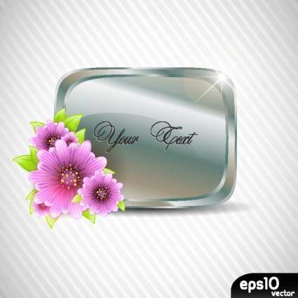 free vector Vector flowers frame and texture