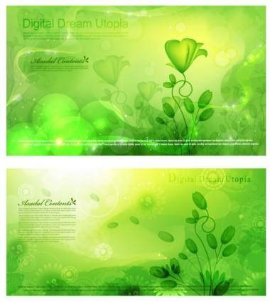 free vector Dream lace background 01 flowering plants