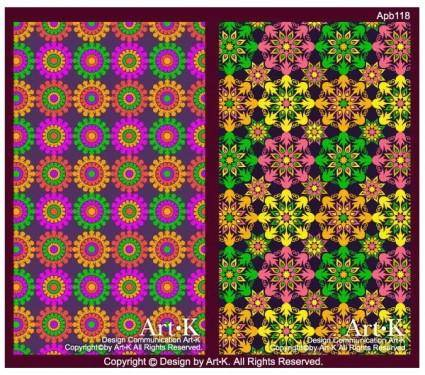 2 colorful flowers background base map vector artwork
