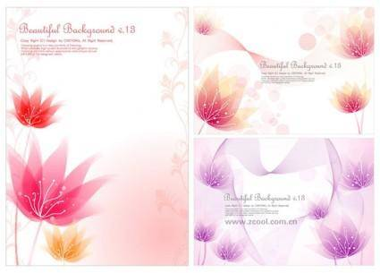 3 small flower background vector dream