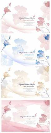 free vector Elegant flowers vector background