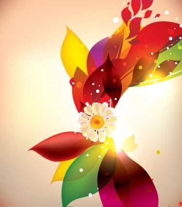 free vector Dream of flowers vector background 4