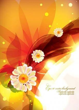free vector Dream of flowers vector background 5
