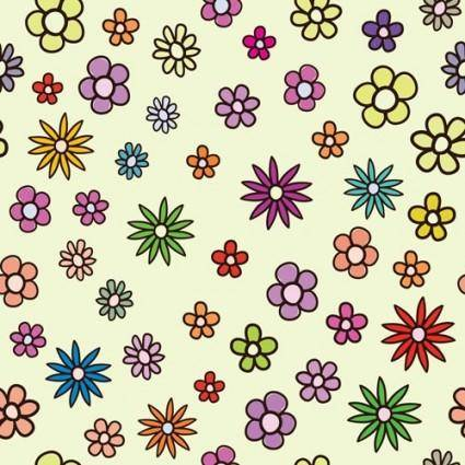 Lovely flowers vector background 1