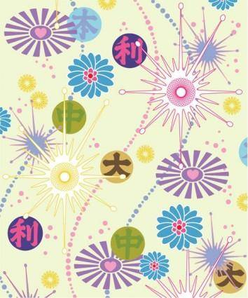 Lovely flower background vector 2