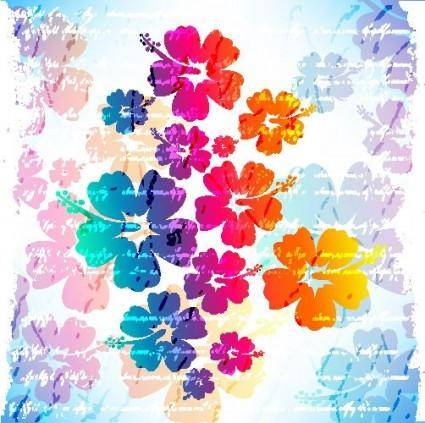 Flowers vector background 1