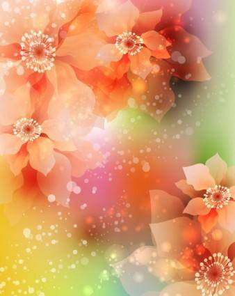 free vector Dream flowers vector background 3