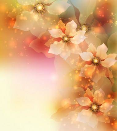 Dream flowers vector background 4