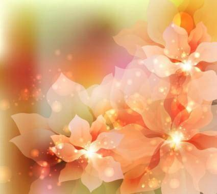 Dream flowers vector background 5
