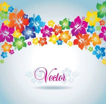Colorful flowers vector background
