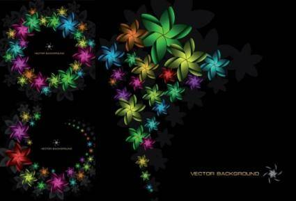 Symphony of flowers vector