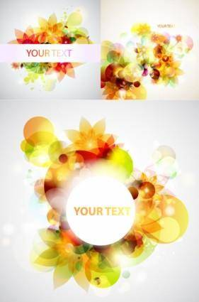 Glare flower background vector