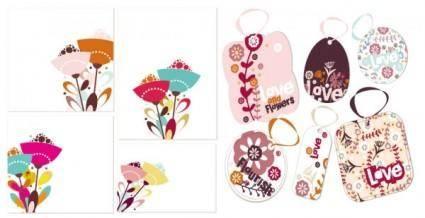 free vector Lovely flower theme vector