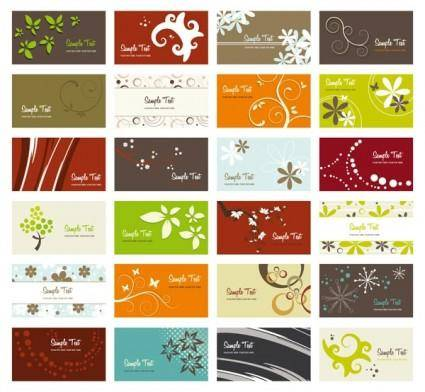 Flower card background vector