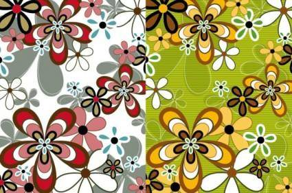 free vector Lovely flowers vector background