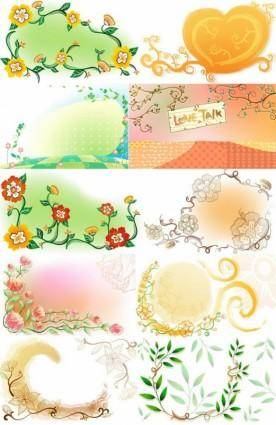 free vector Fresh flowers handpainted background vector artwork 3