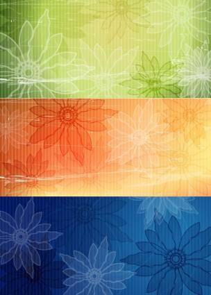 free vector Vintage flower background vector