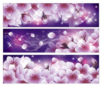 Romantic flower vector background