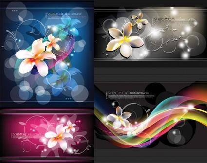 Dream flowers and beautiful vector background
