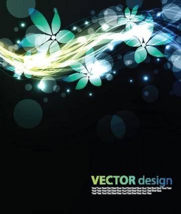 free vector Flower background vector 4